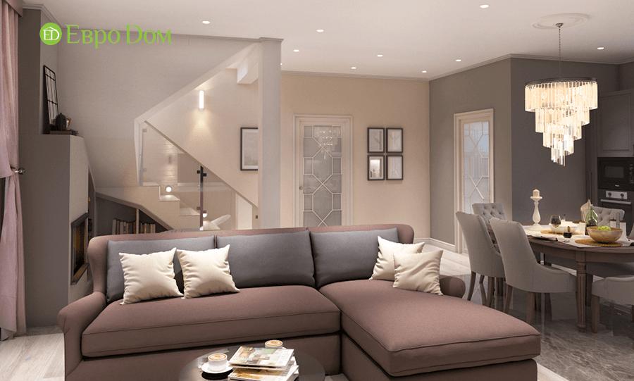 Дизайн интерьера коттеджа в стиле ар деко. Фото 013