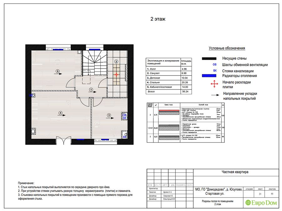 Дизайн интерьера коттеджа в стиле ар деко. Фото 054