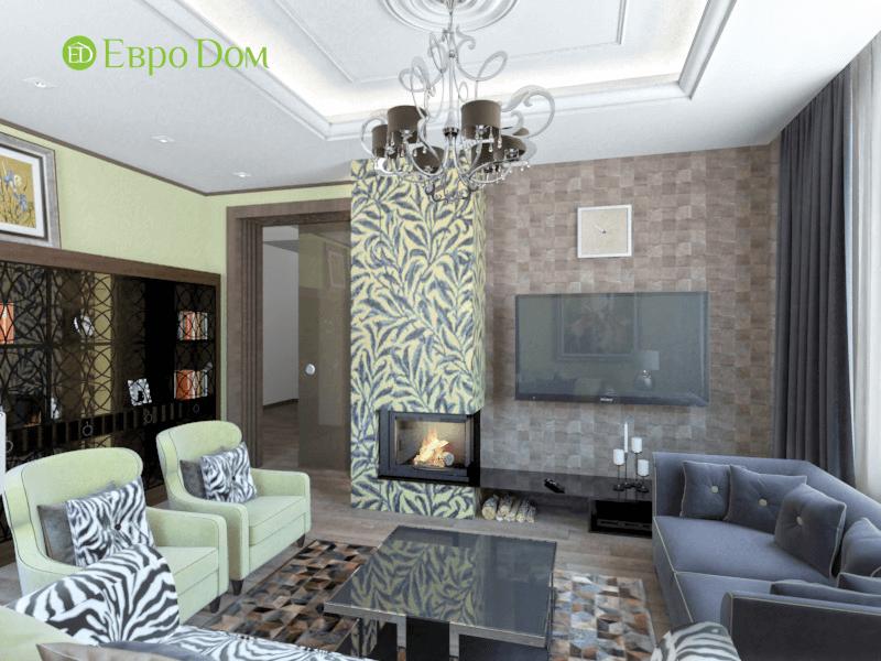 Дизайн интерьера коттеджа в стиле ар деко. Фото 012