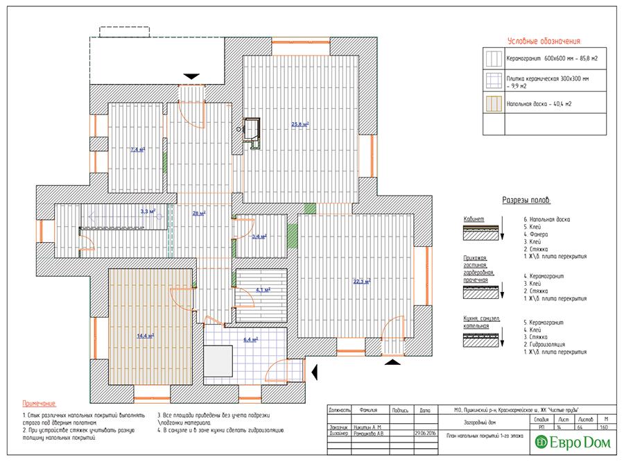Дизайн интерьера коттеджа в стиле ар деко. Фото 044