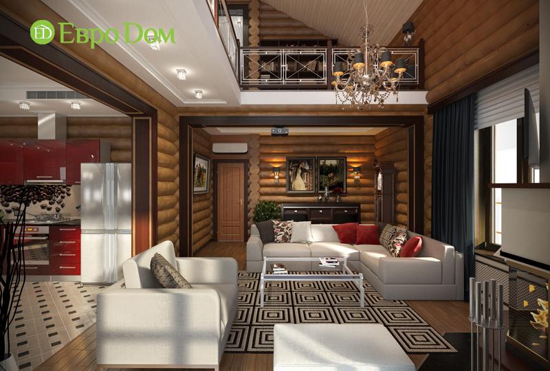 Дизайн интерьера коттеджа 235 кв. м в стиле модерн. Фото 02