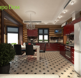 Дизайн интерьера коттеджа 235 кв. м в стиле модерн. Фото проекта