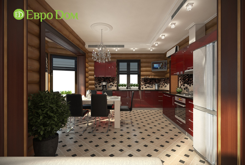Дизайн интерьера коттеджа 235 кв. м в стиле модерн. Фото 04