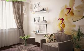Дизайн интерьера 1-комнатной квартиры 35 кв.м. по адресу г. Москва, ул. Новикова-Прибоя, д. 9. Фото 4