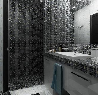 Дизайн однокомнатной квартиры 30 кв. м в современном стиле. Фото проекта