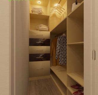 Дизайн однокомнатной квартиры 37 кв. м в стиле эклектика. Фото проекта