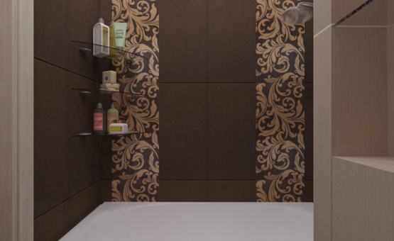 Дизайн интерьера 1-комнатной квартиры 37 кв.м. по адресу МО, Люберецкий р-н, д. Мотяково, к. 11.3, ЖК «Кореневский форт». Фото 3