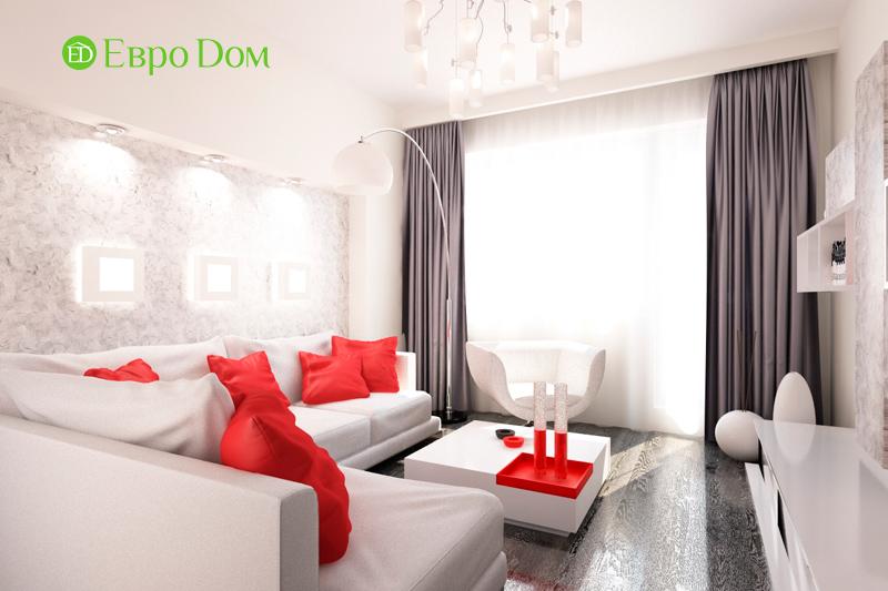 Дизайн двухкомнатной квартиры 64 кв. м в стиле минимализм. Фото 08