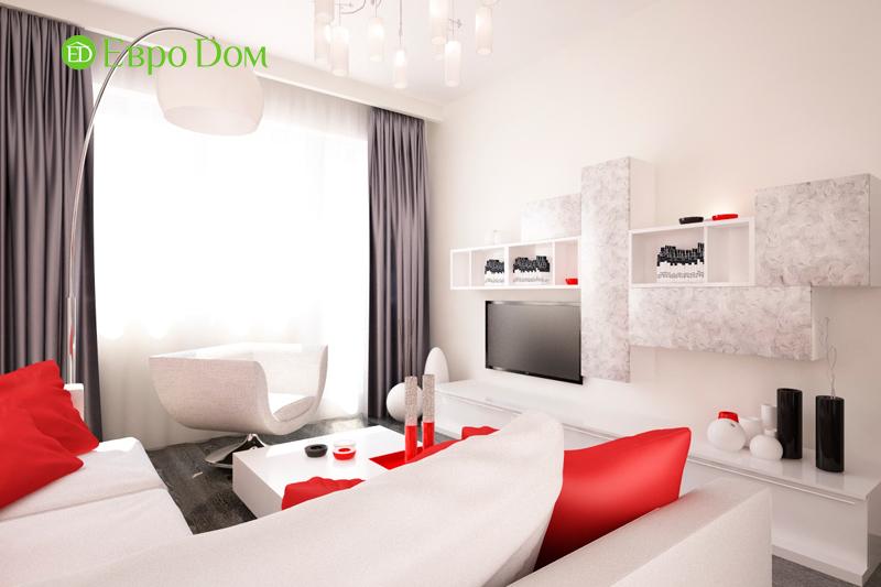 Дизайн двухкомнатной квартиры 64 кв. м в стиле минимализм. Фото 09