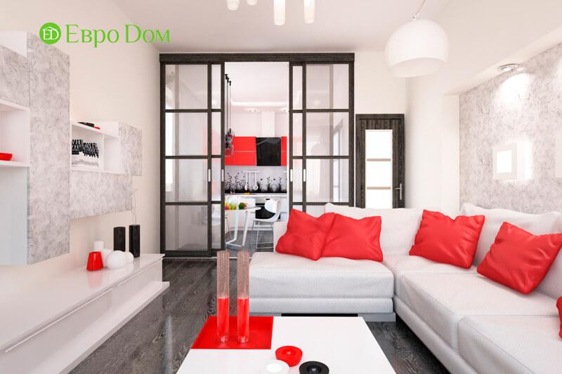 Дизайн двухкомнатной квартиры 64 кв. м в стиле минимализм. Фото 011
