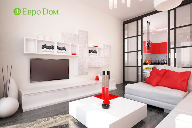 Дизайн двухкомнатной квартиры 64 кв. м в стиле минимализм. Фото 012