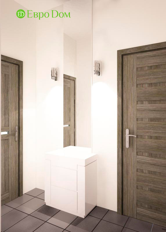 Дизайн двухкомнатной квартиры 64 кв. м в стиле минимализм. Фото 017