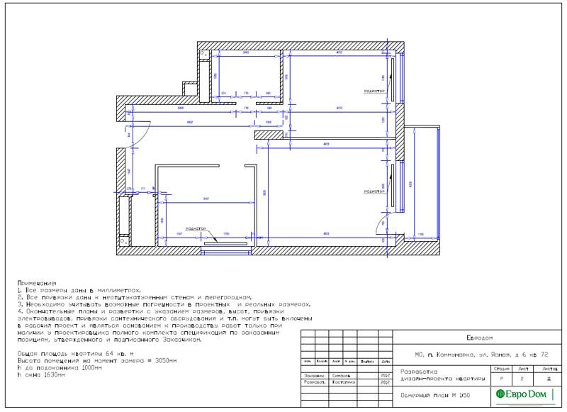 Дизайн двухкомнатной квартиры 64 кв. м в стиле минимализм. Фото 019