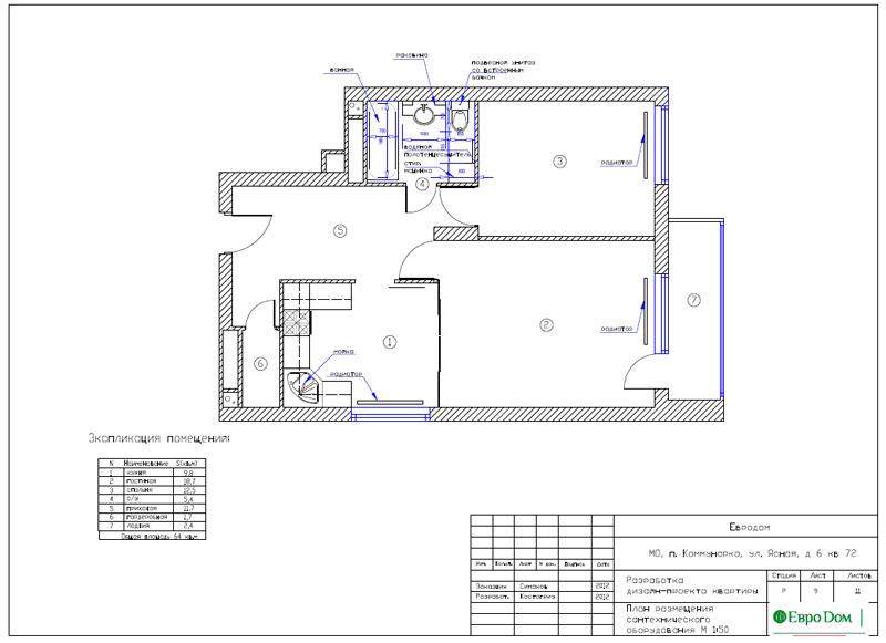 Дизайн двухкомнатной квартиры 64 кв. м в стиле минимализм. Фото 026
