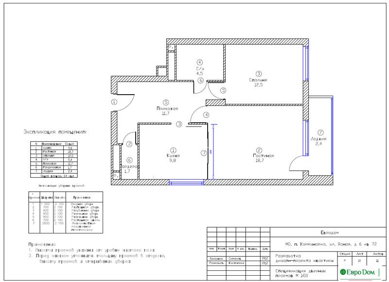 Дизайн двухкомнатной квартиры 64 кв. м в стиле минимализм. Фото 027