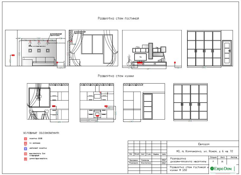 Дизайн двухкомнатной квартиры 64 кв. м в стиле минимализм. Фото 034