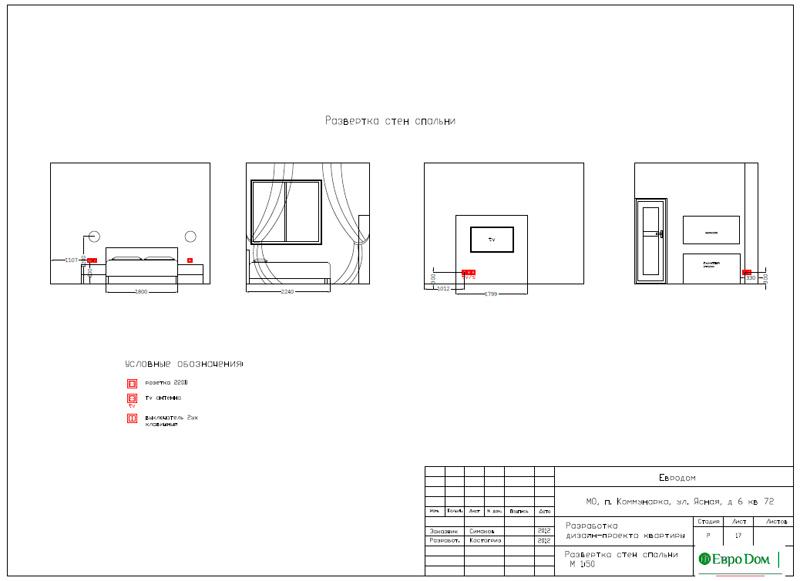 Дизайн двухкомнатной квартиры 64 кв. м в стиле минимализм. Фото 035