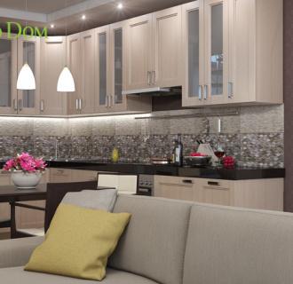 Дизайн многокомнатной квартиры 185 кв. м в современном стиле. Фото проекта