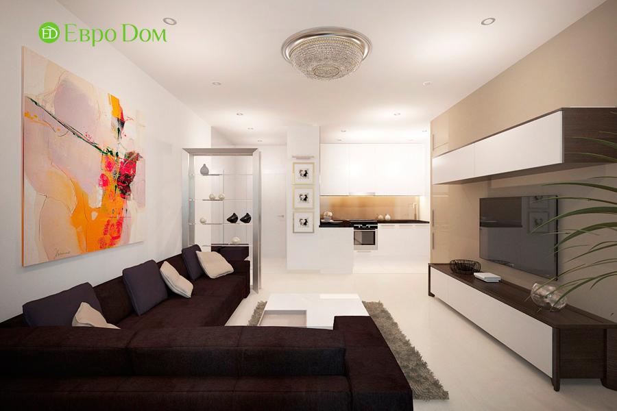 Дизайн 1-комнатной квартиры 55 кв. м в стиле минимализм. Фото 02