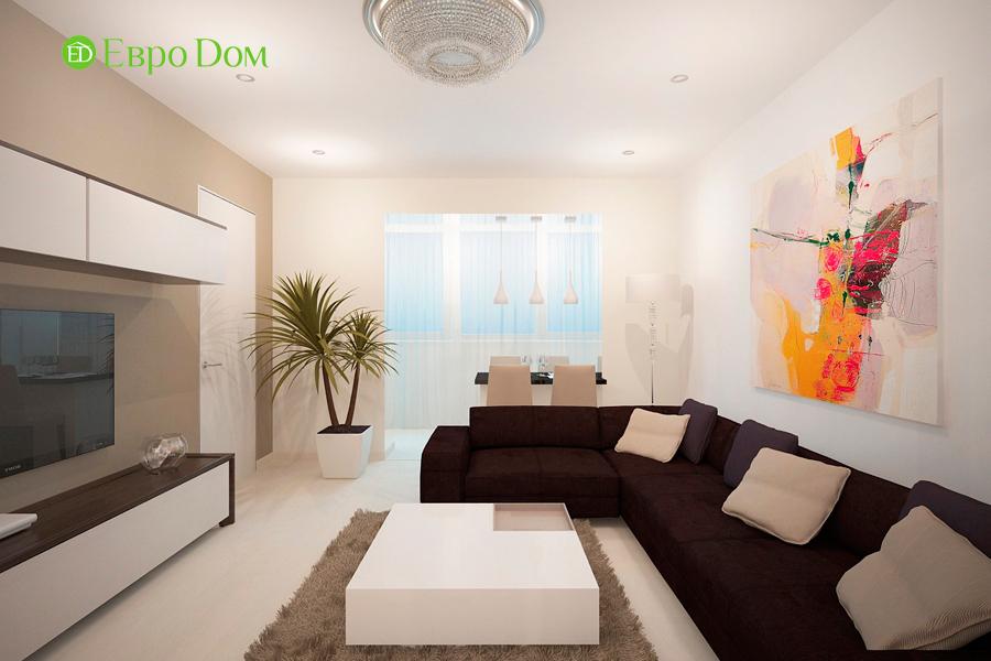 Дизайн 1-комнатной квартиры 55 кв. м в стиле минимализм. Фото 03