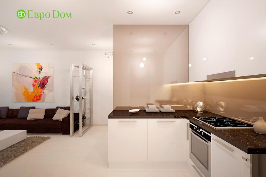 Дизайн 1-комнатной квартиры 55 кв. м в стиле минимализм. Фото 07