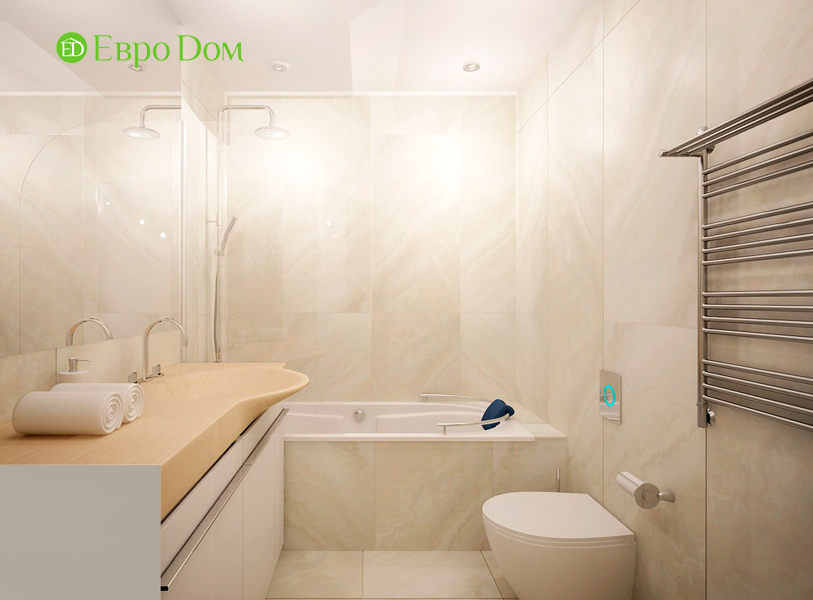 Дизайн 1-комнатной квартиры 55 кв. м в стиле минимализм. Фото 010