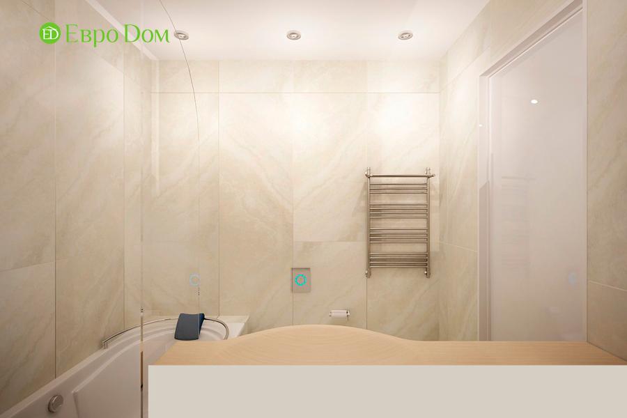 Дизайн 1-комнатной квартиры 55 кв. м в стиле минимализм. Фото 011