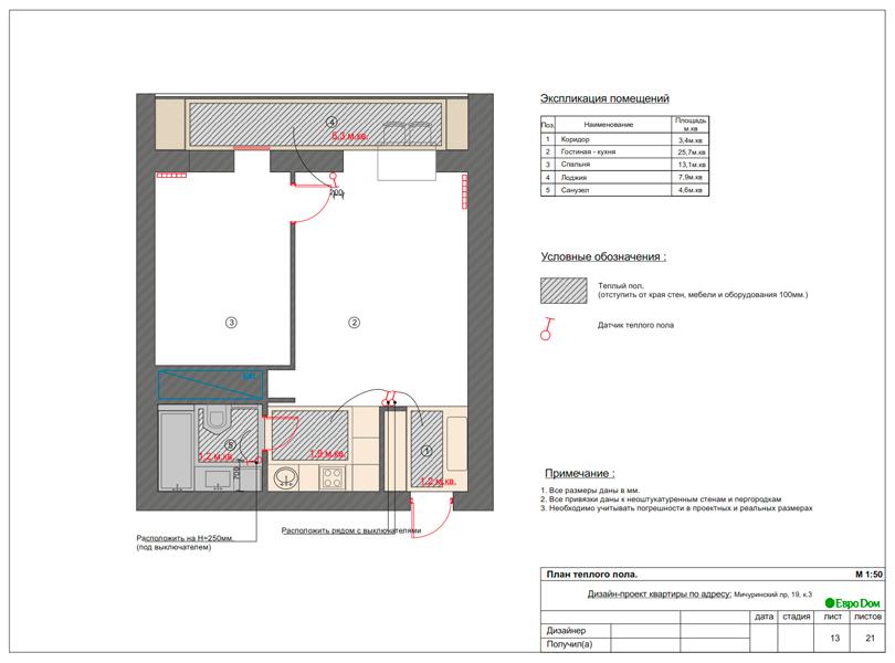 Дизайн 1-комнатной квартиры 55 кв. м в стиле минимализм. Фото 023