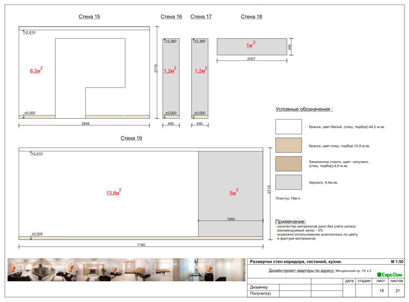 Дизайн 1-комнатной квартиры 55 кв. м в стиле минимализм. Фото 028