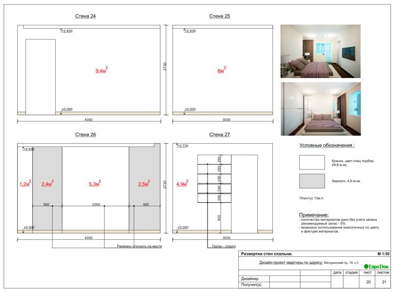 Дизайн 1-комнатной квартиры 55 кв. м в стиле минимализм. Фото 030