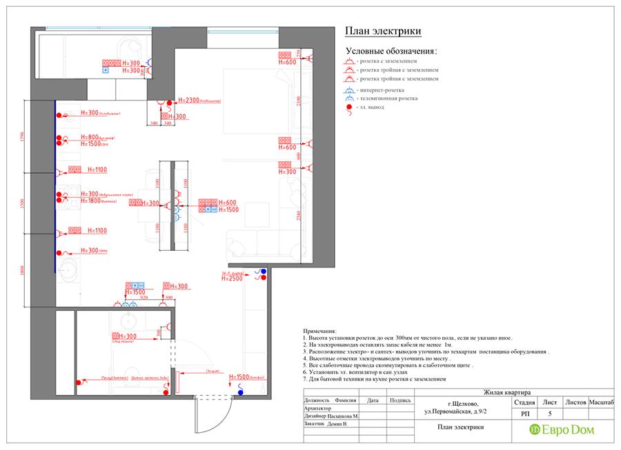 Дизайн 1-комнатной квартиры в современном стиле. Фото 019