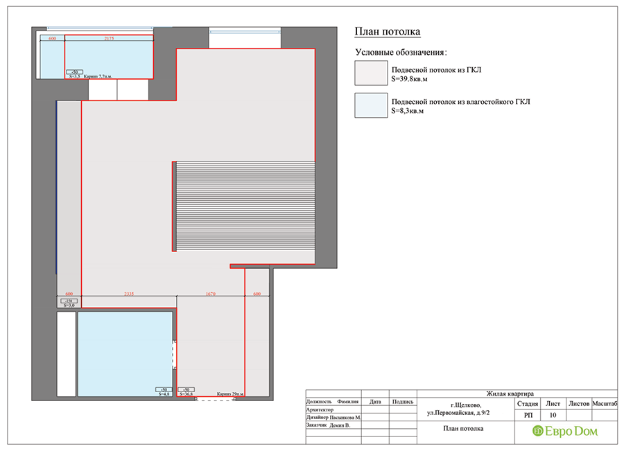 Дизайн 1-комнатной квартиры в современном стиле. Фото 023