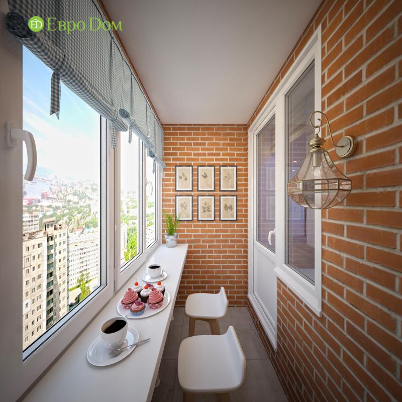 Дизайн двухкомнатной квартиры 63 кв. м в стиле белый лофт. Фото 02