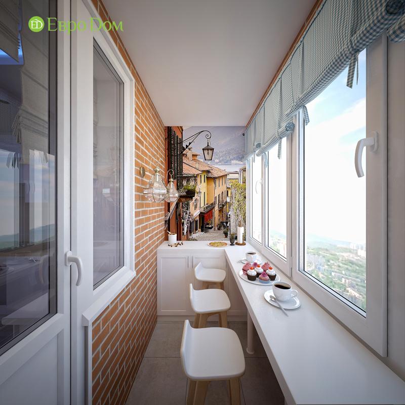 Дизайн двухкомнатной квартиры 63 кв. м в стиле белый лофт. Фото 03