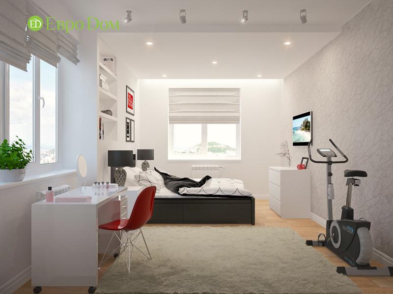 Дизайн двухкомнатной квартиры 63 кв. м в стиле белый лофт. Фото 06