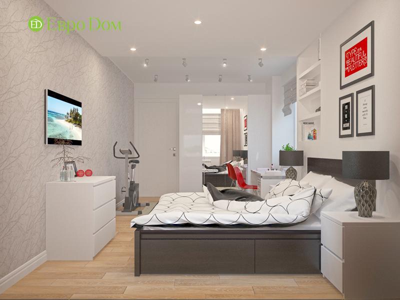Дизайн двухкомнатной квартиры 63 кв. м в стиле белый лофт. Фото 07