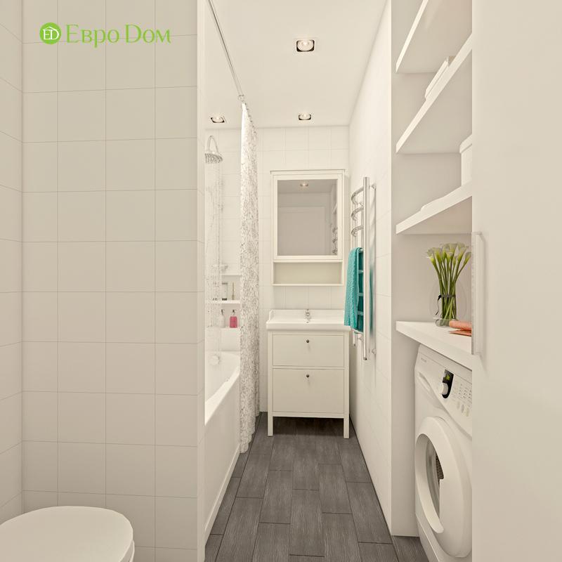 Дизайн двухкомнатной квартиры 63 кв. м в стиле белый лофт. Фото 09