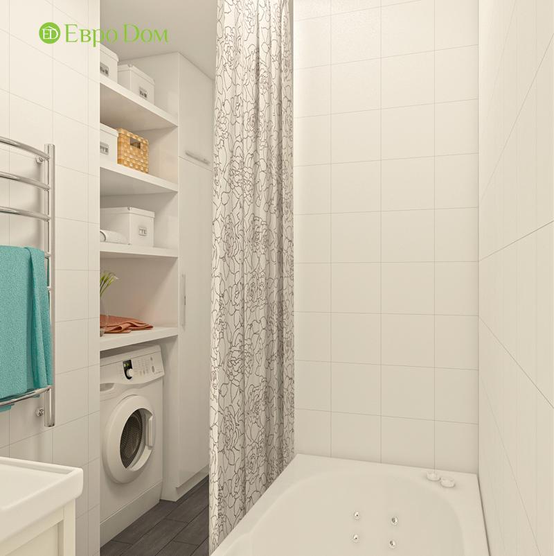 Дизайн двухкомнатной квартиры 63 кв. м в стиле белый лофт. Фото 010