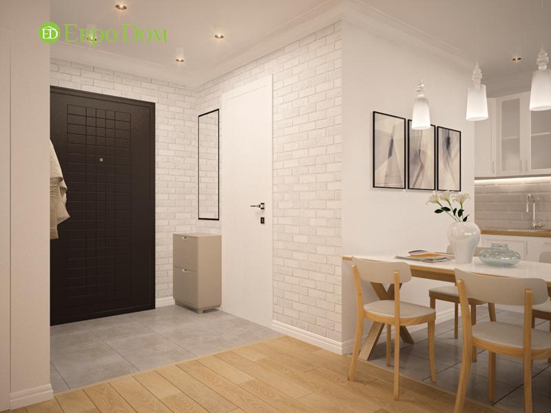 Дизайн двухкомнатной квартиры 63 кв. м в стиле белый лофт. Фото 011