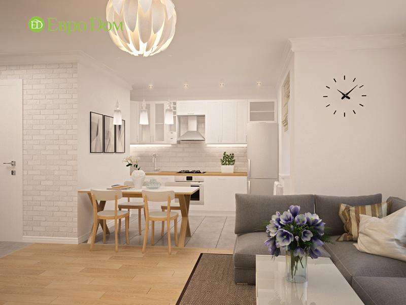 Дизайн двухкомнатной квартиры 63 кв. м в стиле белый лофт. Фото 012