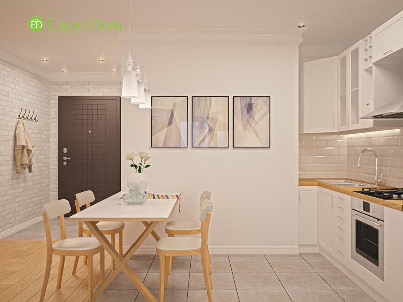 Дизайн двухкомнатной квартиры 63 кв. м в стиле белый лофт. Фото 013