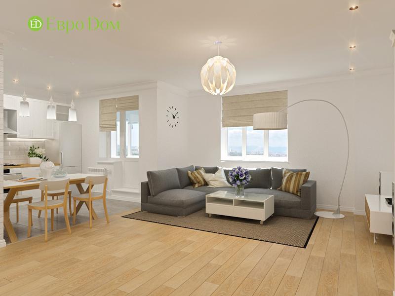 Дизайн двухкомнатной квартиры 63 кв. м в стиле белый лофт. Фото 014