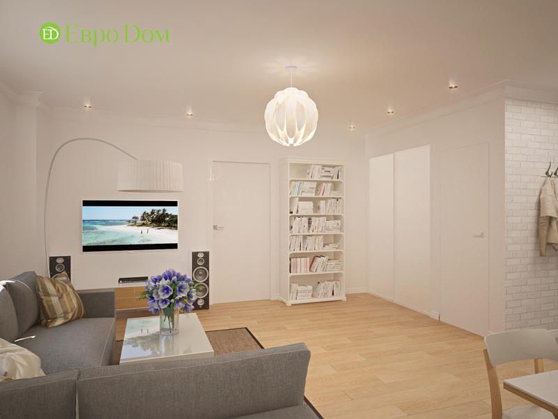 Дизайн двухкомнатной квартиры 63 кв. м в стиле белый лофт. Фото 015