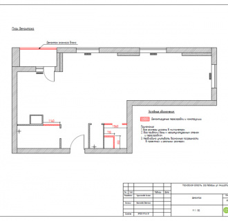 Дизайн двухкомнатной квартиры 63 кв. м в стиле белый лофт. Фото проекта