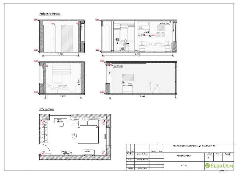Дизайн двухкомнатной квартиры 63 кв. м в стиле белый лофт. Фото 029