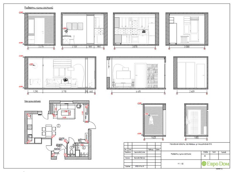 Дизайн двухкомнатной квартиры 63 кв. м в стиле белый лофт. Фото 030