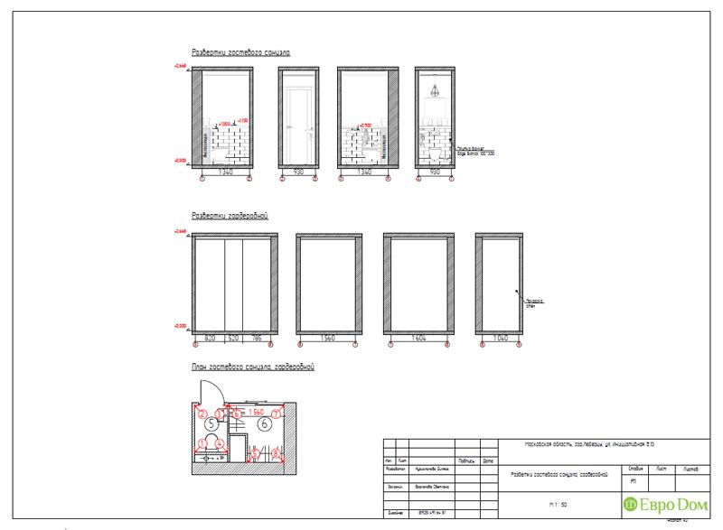Дизайн двухкомнатной квартиры 63 кв. м в стиле белый лофт. Фото 032