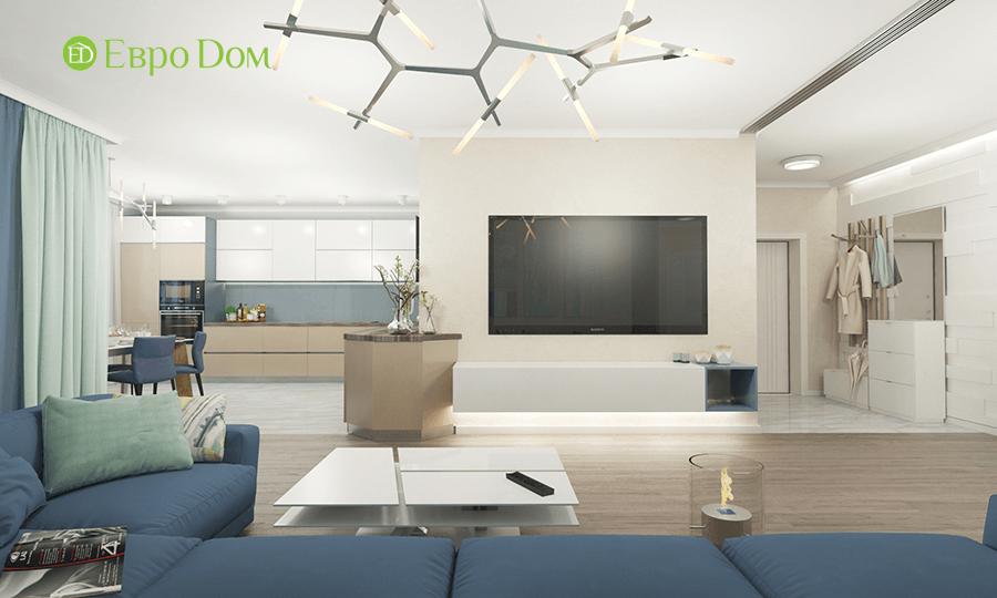 Дизайн трёхкомнатной квартиры 109 кв. м в современном стиле. Фото 09
