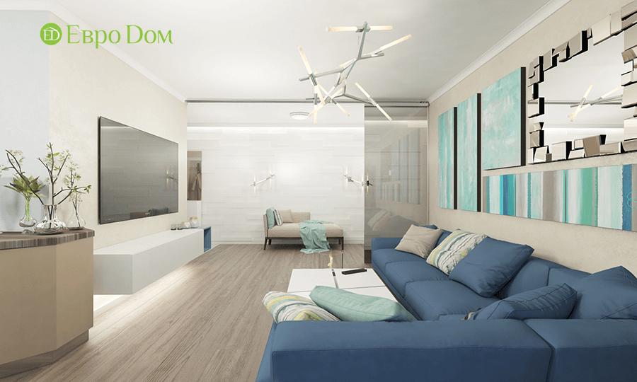 Дизайн трёхкомнатной квартиры 109 кв. м в современном стиле. Фото 010