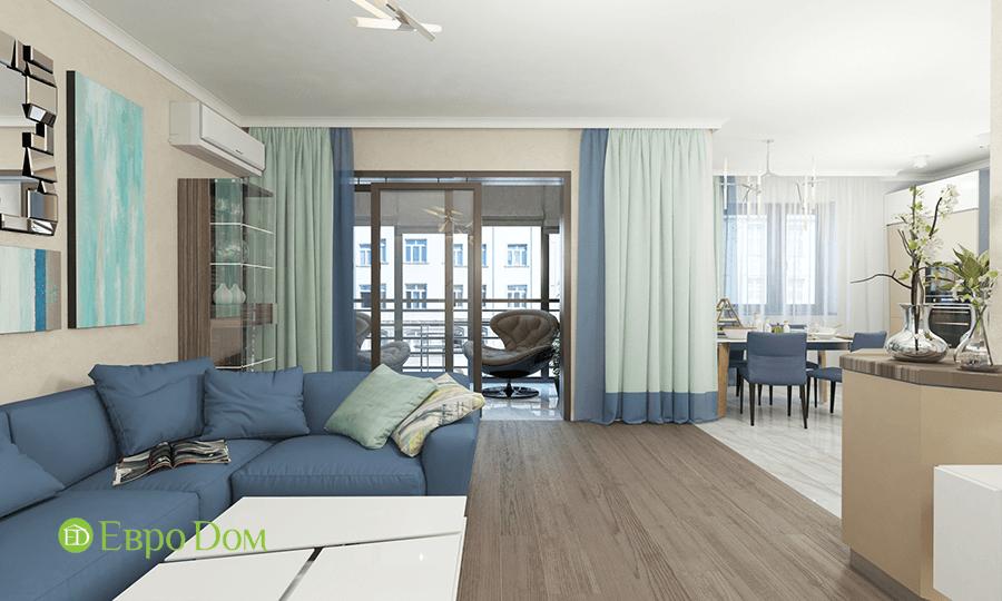 Дизайн трёхкомнатной квартиры 109 кв. м в современном стиле. Фото 012